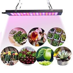 KOBWA 15W 75 LEDs Plant Grow Light , Aluminum Slim Grow Ligh