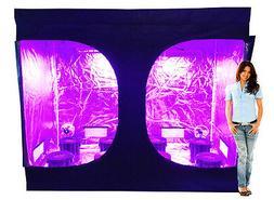 8 Site Hydroponic System Grow Tent - 1200w LED Grow Light, 6