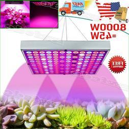 8000W LED Grow Light Full Spectrum Indoor Hydroponic Veg Flo