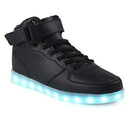Topteck Boys Girls High Top Light Up Shoes Kids Comfortable