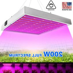 Adjustable 200W LED Grow Light Full Spectrum 4 Dimmable Leve
