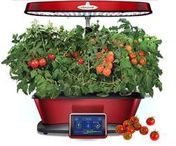 Aerogarden Bounty Elite Red Stainless Indoor Garden with Che