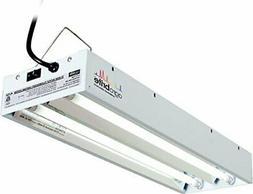 Agrobrite Fluorescent Foot 2 Tube Grow Light System Black Lu