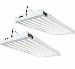 Agrobrite T5 324W 4' 6-Tube Grow Light Fixtures w/Fluoresce