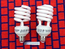 BOX of 2 new GROW LIGHT BULB 2700K  fluorescent CFL 26w for
