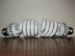 100 WATT CFL GROW LIGHT BULBS - 2700 K SPECTRUM! USES 23 WAT