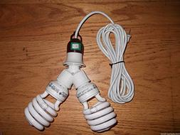 200 WATT CFL GROW LIGHT KIT- 10 FOOT CORD INCLUDED- FOR BLOO