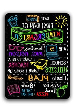 Chalkboard Style First Day of School Customizable Photo Prop