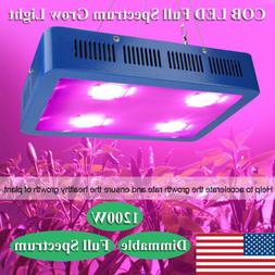 Dimmable 1200W COB LED Grow Light Full Spectrum Lamp for Hyd