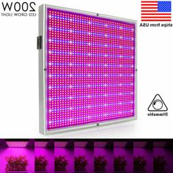 Dimmable 200W LED Grow Light Flower Blooming Lamp Full Spect
