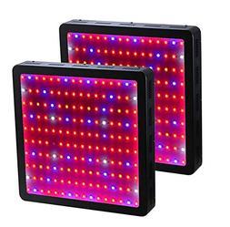 GOWE 2PCS 1600W Double Chips LED Grow Light Full Spectrum Fo
