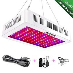 HIGROW 1000W Double Chips LED Grow Light Full Spectrum Grow