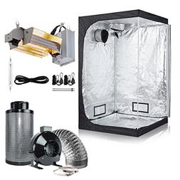 BloomGrow 1000W Double Ended Grow Light Kit + 48''x48''x78''