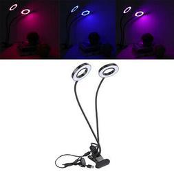 Double Head LED Plant Grow Light Lamp Bulb Full Spectrum for