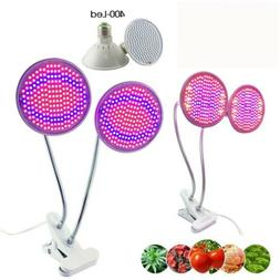 Dual 200 LED Plant Grow Light bulb Full spectrum kit Indoor