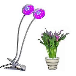 Dual Head Led Grow Light, UNIFUN 10W Desk Clip Lamp with Dou