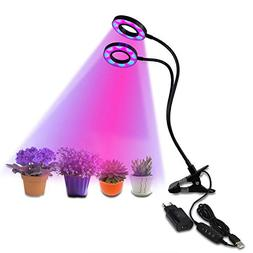 20W Dual Head Plant Grow Light Growstar with 3/6/12H Timmer