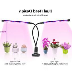 Dual Head Plant Grow Light 360 Degree 40 Leds Gooseneck Desk