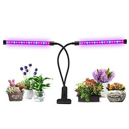 Lovebay Dual Head LED Plant Grow Light 2 Dimmable Levels Gro