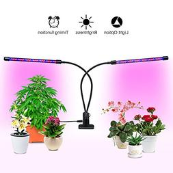 20W Dual Head Timing 36 LED 5 Dimmable Levels Grow Lights fo