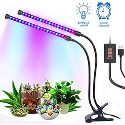 12W Dual Head Timing Grow Lamp, 36 LED Chips with Red/Blue S