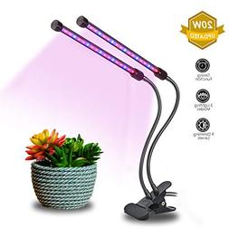 20W Dual Head Timing Grow Light, Brionac 40 LED 9 Dimming Le