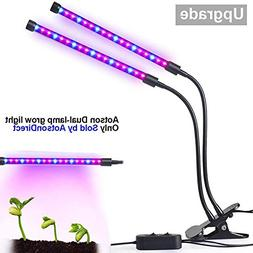 18W Dual Heads Led Grow Light With Clip Flexible Gooseneck P