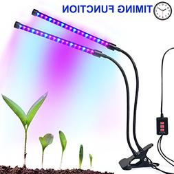 Dual-lamp Grow Light Autien 36LEDs 4 Levels 3 Modes Timing P