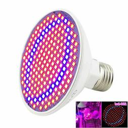 E27 200 LED Plant Grow Light Lamp Flower Seeds Growing Light