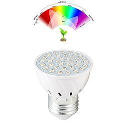 WXLAA E27 36LED Full Spectrum Planting Grow Light Bulb Veg H