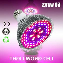 E27 50W LED Grow Light Bulbs 78 LEDs Full Spectrum for Indoo