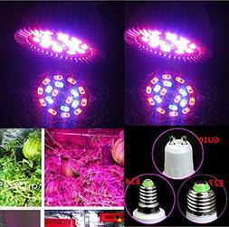 YOYORI E27 E14 GU10 10W 18-LEDPlant Grow Light Bulb Hydropon
