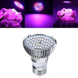 Hitommy 15W E27 Full Spectrum LED Plant Grow Lights Bulb Veg