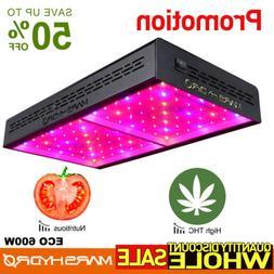 Mars Hydro ECO 600W LED Grow Light Full Spectrum IR Veg Bloo