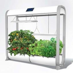 "AeroGarden Farm Plus Hydroponic Garden, 24"" Grow Height, Whi"