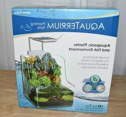 Fish Aquarium Planting Tank LED Light Aquaponic Waterfall De