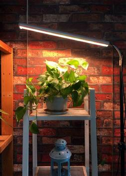 Flexible spring Floor Stand Grow Light LED Plants Lamp Warmw