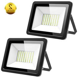 Morsen 2 Pack 60W LED Flood Light, IP66 Waterproof 4000lm 60