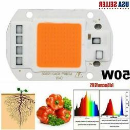 Full Spectrum 50W LED COB Chip Plant Grow Light Waterproof I