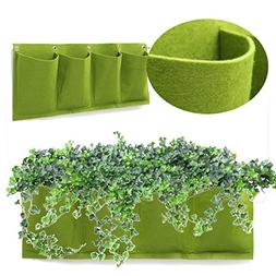 Garden Plant Bag, Kisstaker 4 Pockets Outdoor Indoor Wall Mo