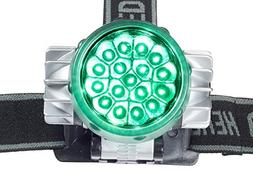 Green Light Headlamp Flashlight LED for Garden Grow Room Ten