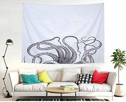 Chees D Zone The Grey Octopus Wall Hanging Tapestry Bohemian