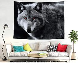 Chees D Zone The Grey Wolf Wall Hanging Tapestry Bohemian Ma