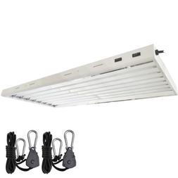 Grow Co. T5 4 ft 8 Lamp Fluorescent Fixture 6500K ETL Certif