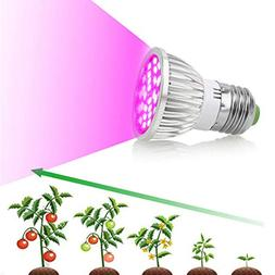 Yezijin Grow Lamp, E27/E14/GU10 28W 28-LEDPlant Grow Light B