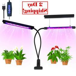 Grow Light 20W 40 LED Bulbs Auto ON/Off Plant Grow Lamp Dual
