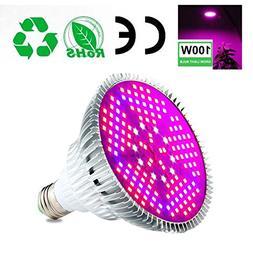 Aolvo Led Grow Light Bulb 100W, Full Spectrum Plant Light La