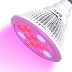 TekTronic LED Grow Light Bulb 12W, Plant Grow Lamp for Indoo