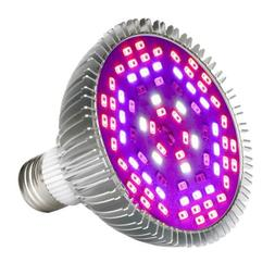 50W Led Grow Light Bulb, Led Plant Bulb Full Spectrum Grow L