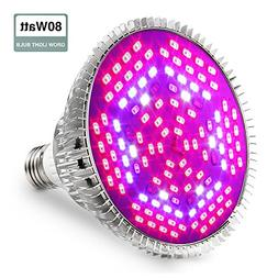 GLIME Grow Light Led Light Bulbs 80W Grow Lights Full Spectr